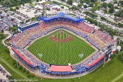Rosenblatt Stadium, Omaha, Nebraksa, Aerial