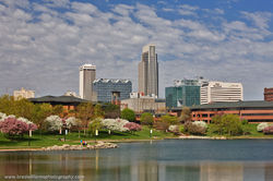 Omaha, Spring, Nebraska, Heartland of America Park, Skyline