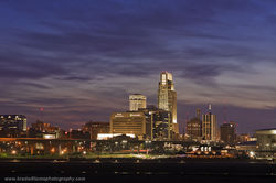 Omaha, Nebraska, Skyline, Playland Park, Council Bluffs, Iowa