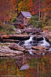 Babcock State Park, West Virginia, Fall Color, Glade Creek Grist Mill