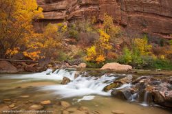 Virgin River, Zion, National Park, Utah​​, fall