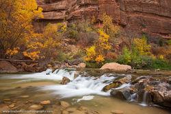Virgin River, Zion, National Park, Utah, fall