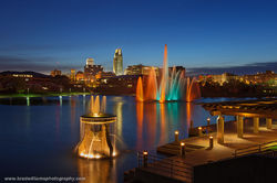 Heartland Of America Park, downtown, Omaha, Nebraska, Omaha Skyline