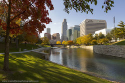 october, fall, gene leahy mall, omaha, nebraska