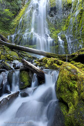 Proxy Falls, waterfall, Oregon, West Coast