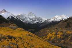 Elk Mountains, Capitol Peak, colorado, fall, aspen
