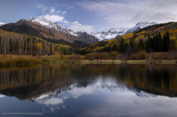 Mount Sneffels Wilderness, Uncompahgre National Forest, Colorado, Beaver, pond, fall