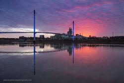 Sunset on the Missouri