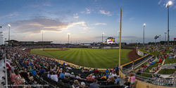 Omaha Storm Chasers, Fourth of July, Werner Park, Papillion, Nebraska, baseball, fireworks