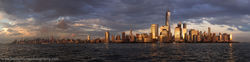 New York, New Jersey, Skyline, Sunset, Photo
