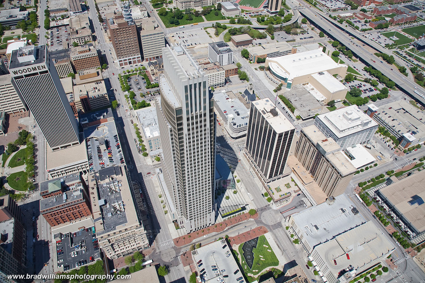 Downtown, Omaha, Nebraska, Aerial, Helicpter, photo