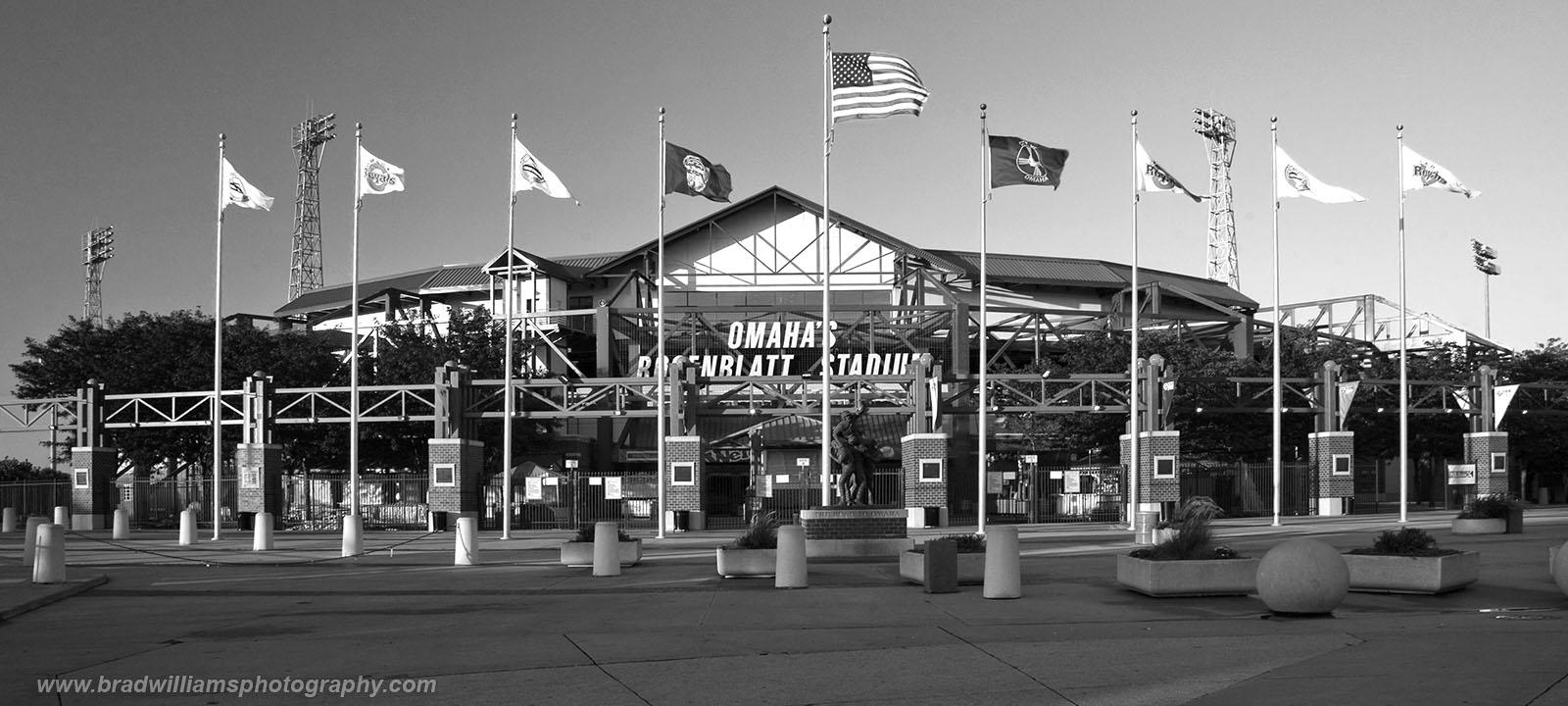 The entrance toRosenblatt Stadium, Omaha, Nebraska