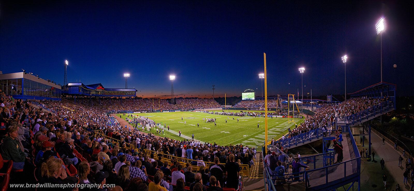 The first ever Omaha Nighthawks game atRosenblatt Stadium, Omaha, Nebraska