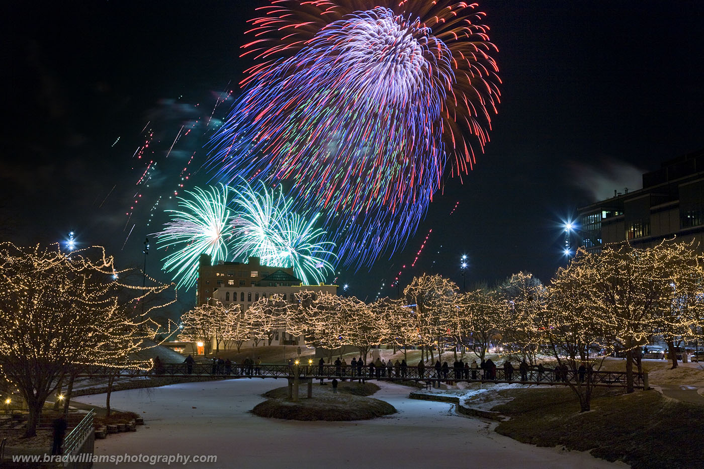 2010, New Years Eve, Gene Leahy Mall, Omaha, Nebraska, photo