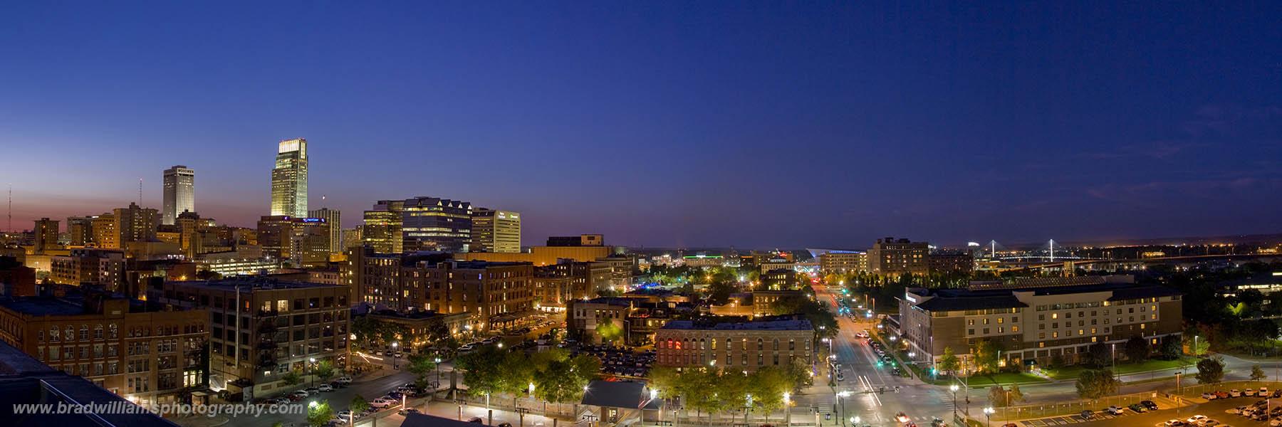 Omaha, Skyline, Old Market Lofts, Nebraska, Panoramic , photo