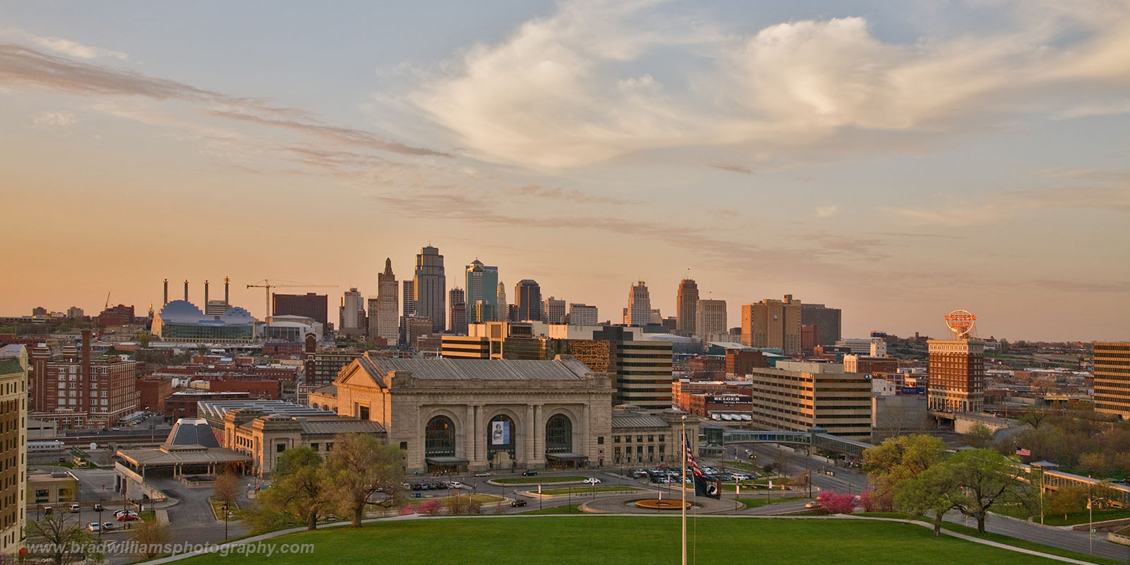 Kansas City, Kansas, Missouri, Skyline, Sunset, photo