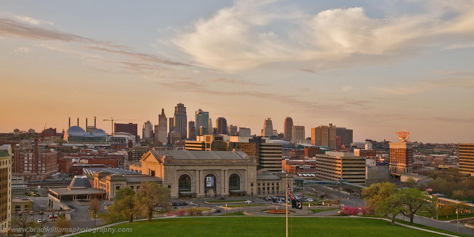 Kansas City, Kansas, Missouri, Skyline, Sunset, photo