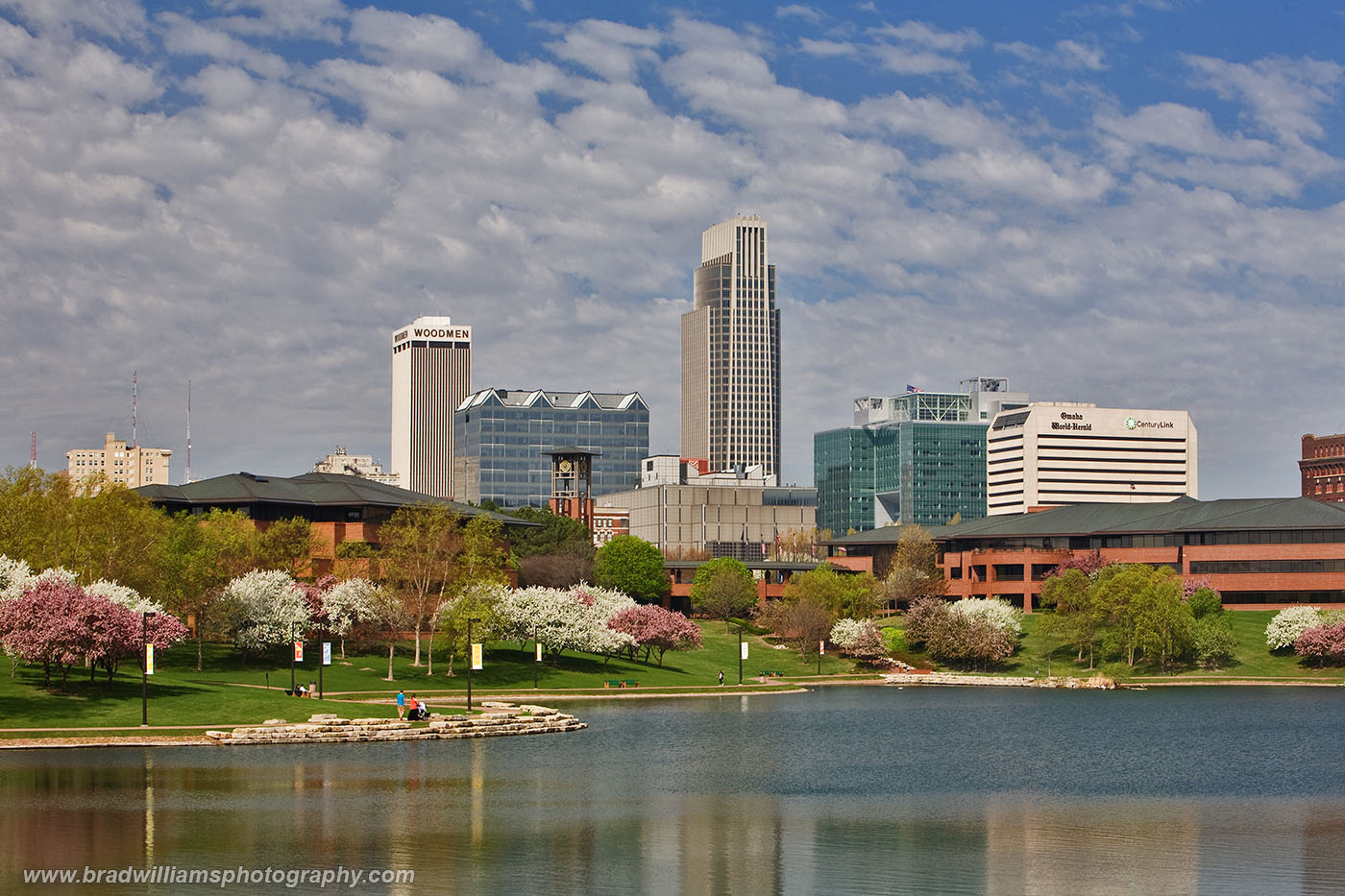 Omaha, Spring, Nebraska, Heartland of America Park, Skyline, photo