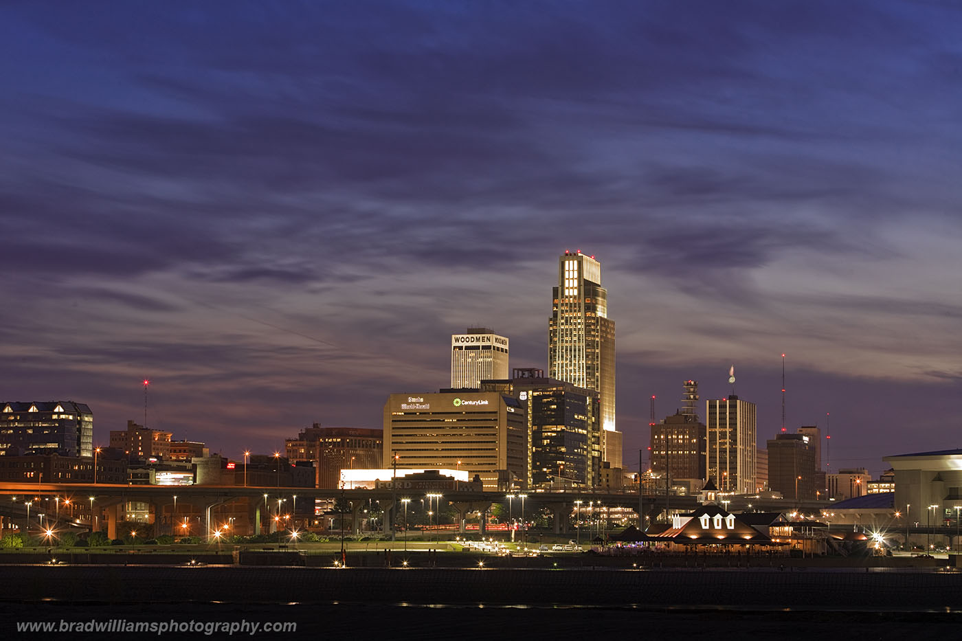 Omaha, Nebraska, Skyline, Playland Park, Council Bluffs, Iowa, photo