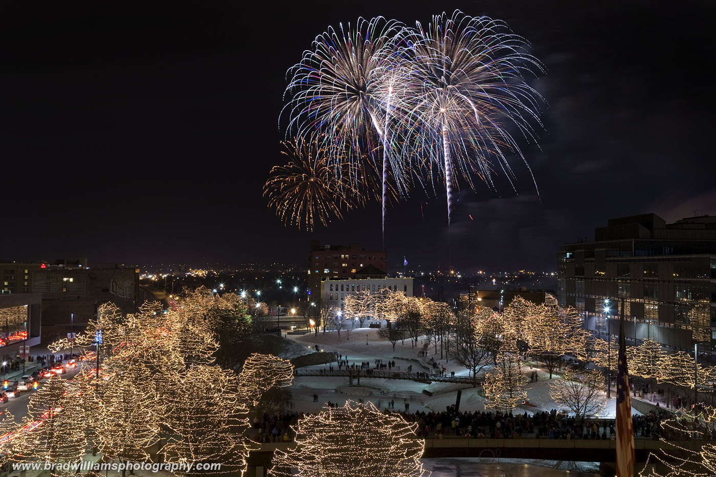 ​​2012,  New Year's Eve Fireworks​, Gene Leahy Mall, Omaha, Nebraska, photo