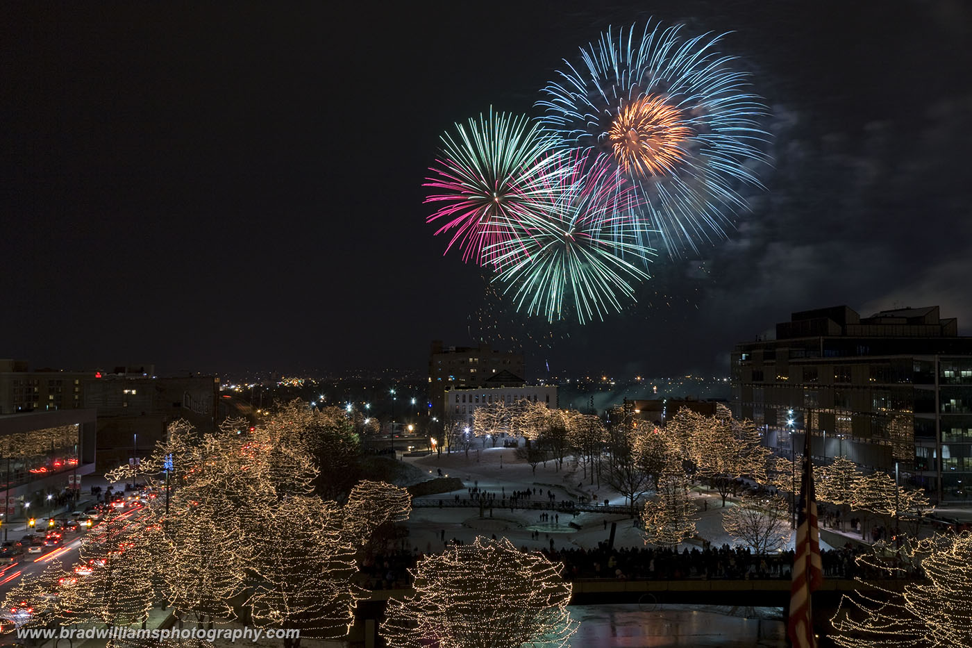 ​​​2012, New Year's Eve Fireworks, Gene Leahy Mall, Omaha, Nebraska, photo
