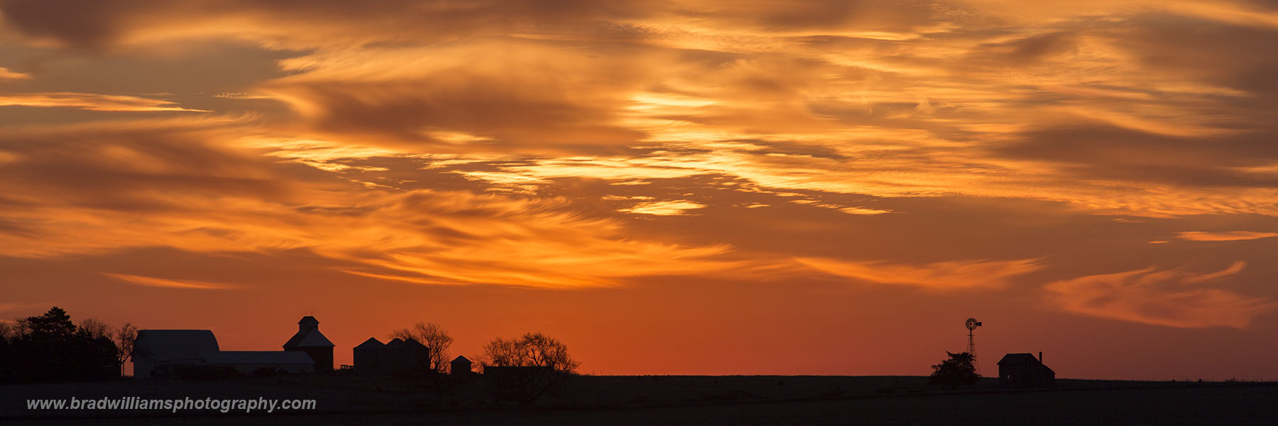 Sunrise, farm, Sarpy County, Nebraska , photo