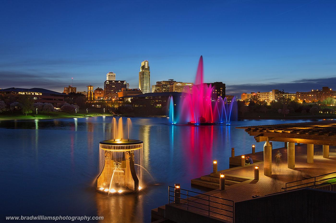 Heartland Of America Park, downtown, Omaha, Nebraska, Omaha Skyline, photo
