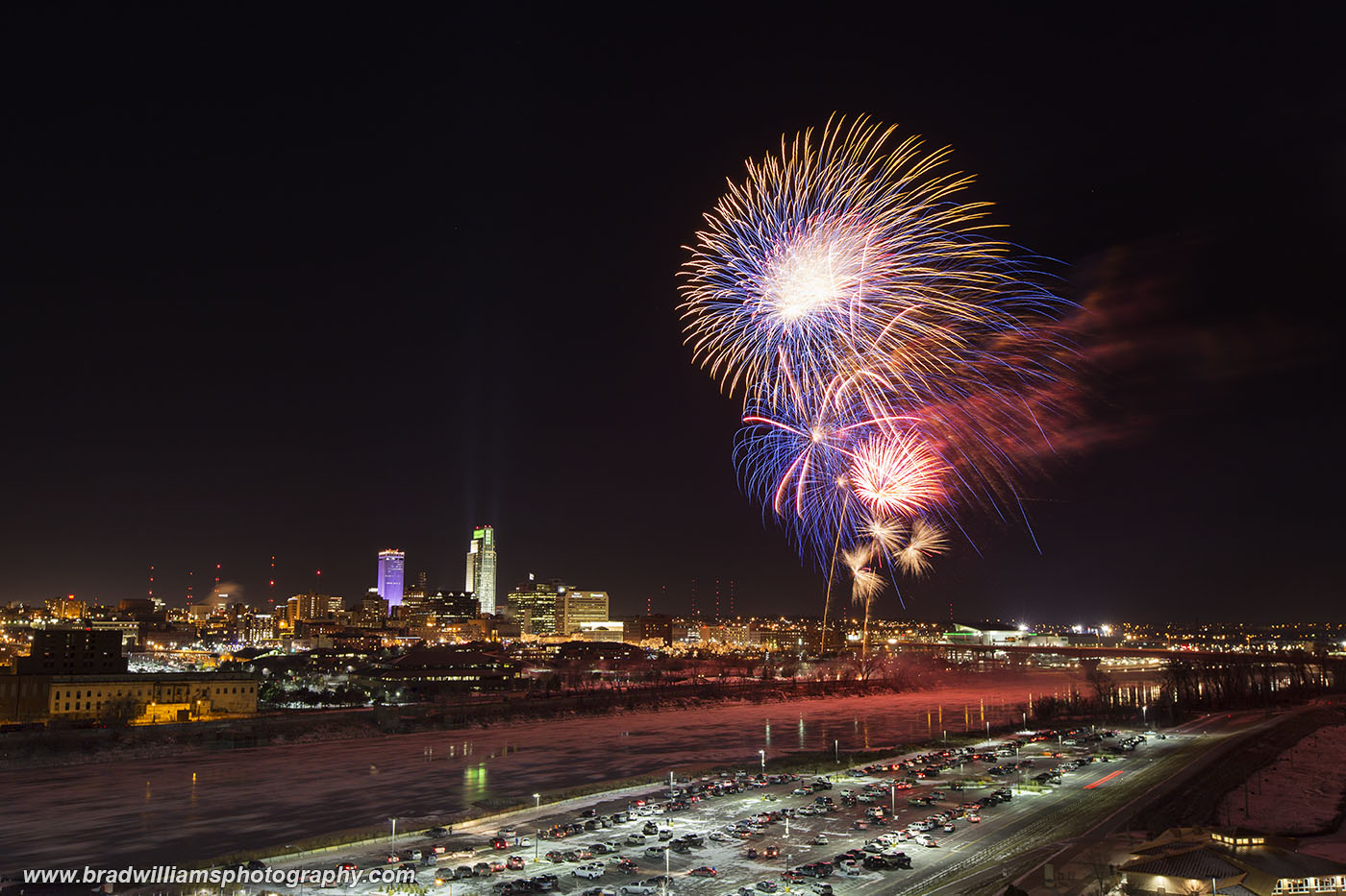 ​2014, New Year's Eve, Fireworks​, Downtown, Omaha, NE, photo