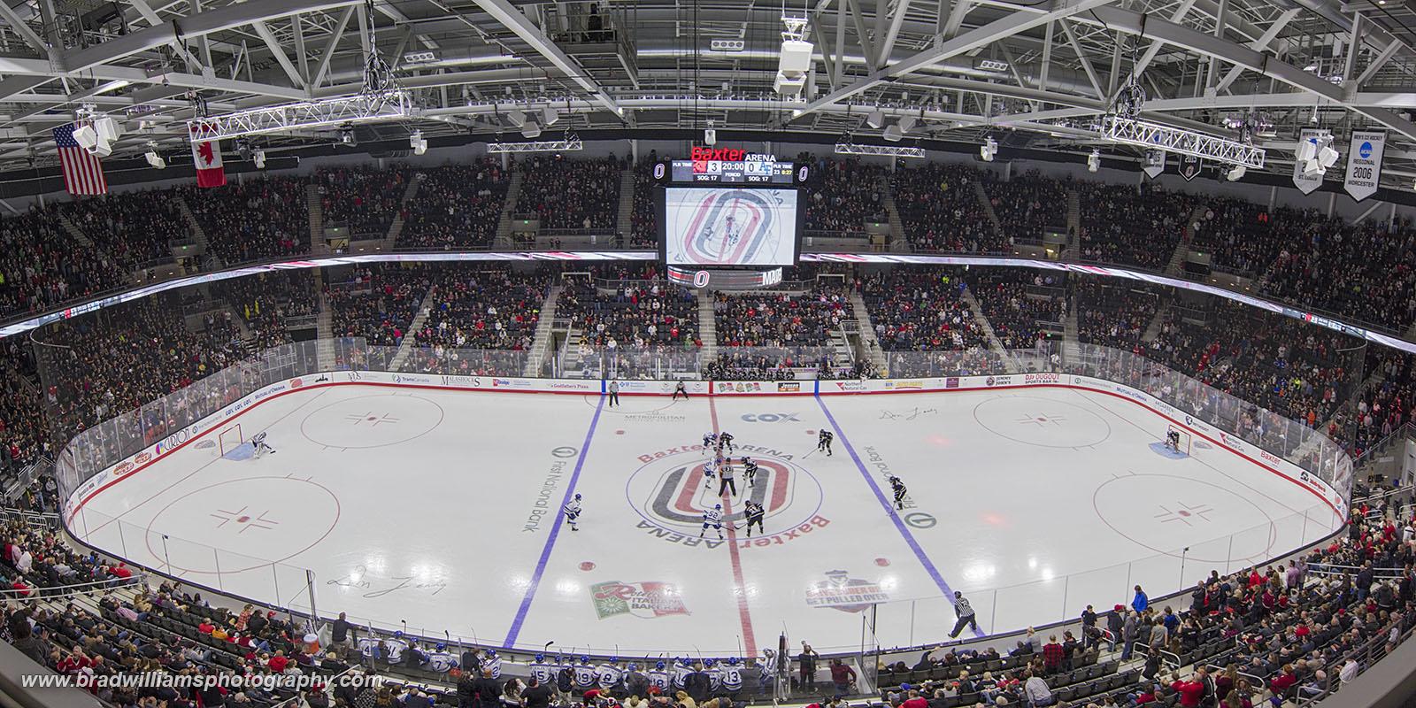 baxter, arena, omaha, nebraska, opening night, uno, maverick, hockey, , photo