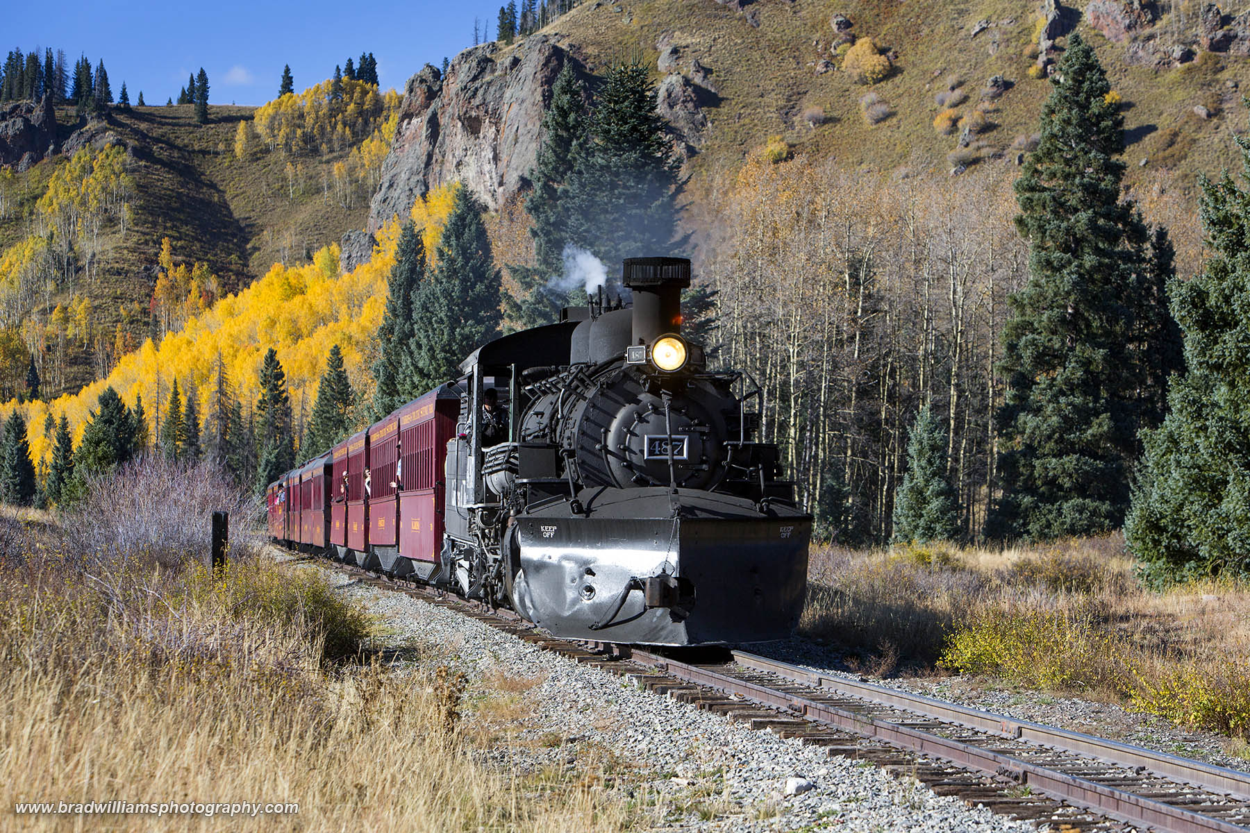 Colorado, New Mexico, Chima, ​Cumbres & Toltec, Scenic, Railroad, fall