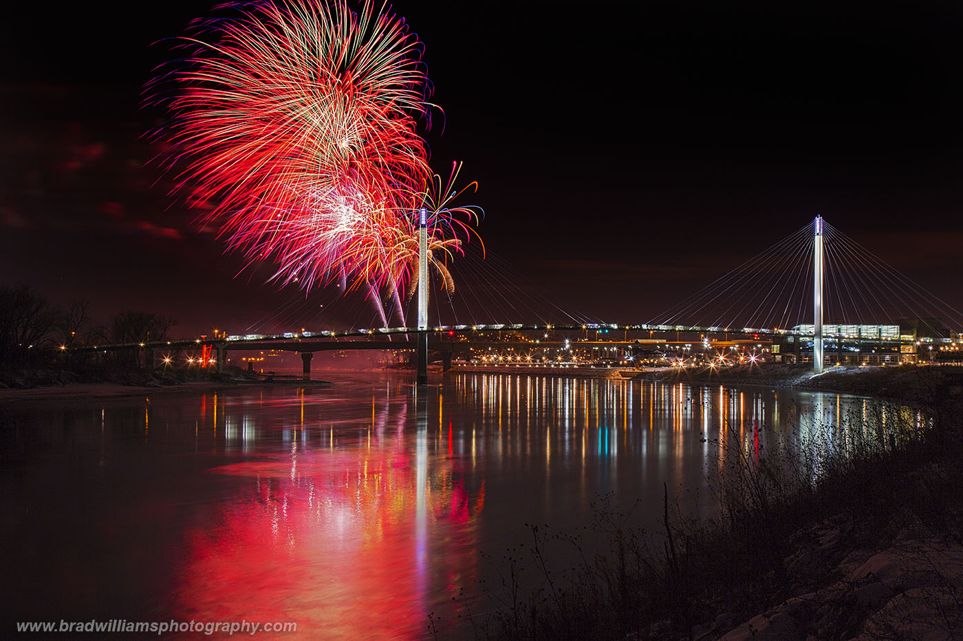 ​​2015, New Year's Eve, Fireworks,​ Omaha, Nebraska, photo