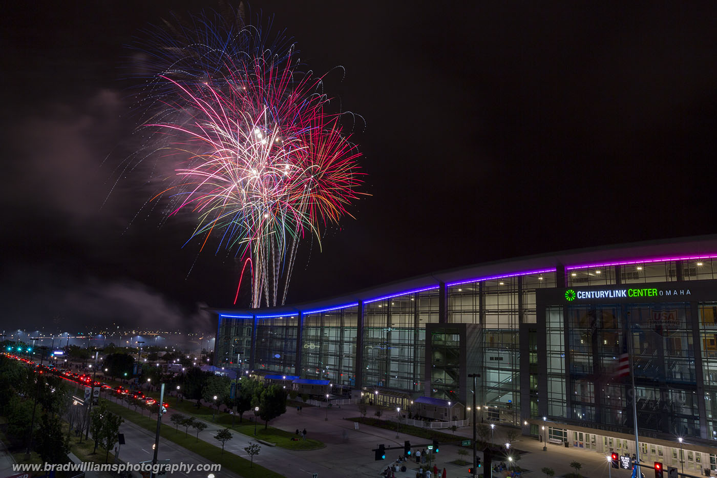 TD Ameritrade Park, Fireworks, Nebraska, photo