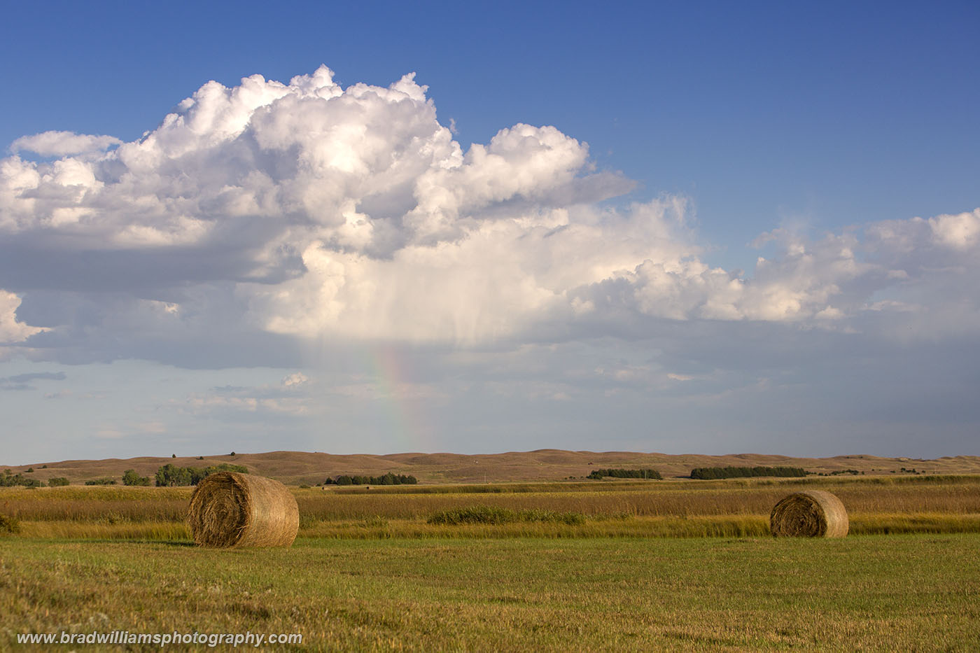 Nebraska, Sandhills, rainbow, photo