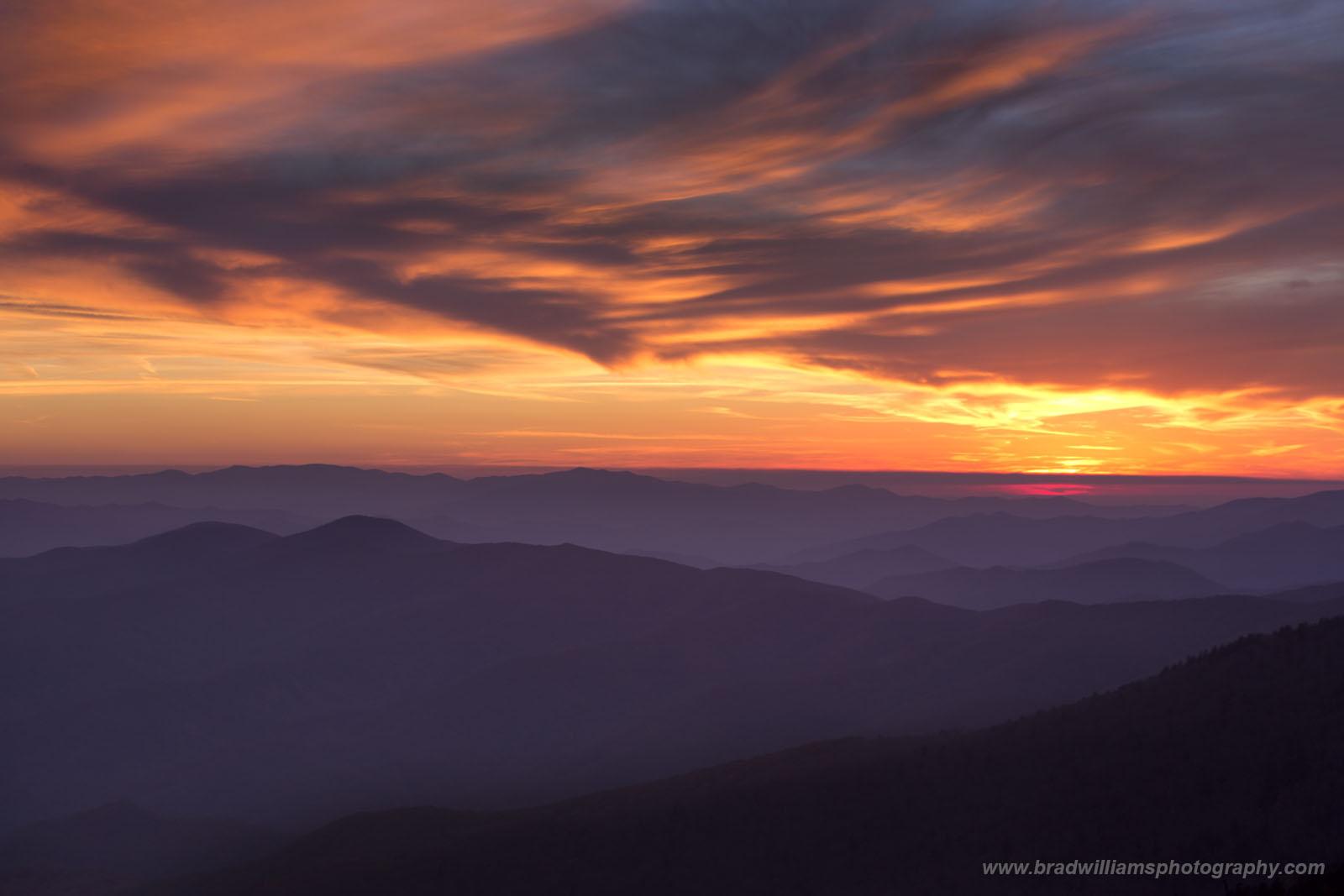 Great Smokey Mountains, National Park, Sunset, photo