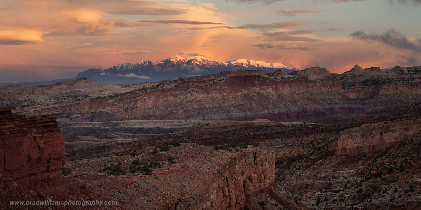 Panorama Point, Capitol Reef National Park, Utah, Sunset, photo
