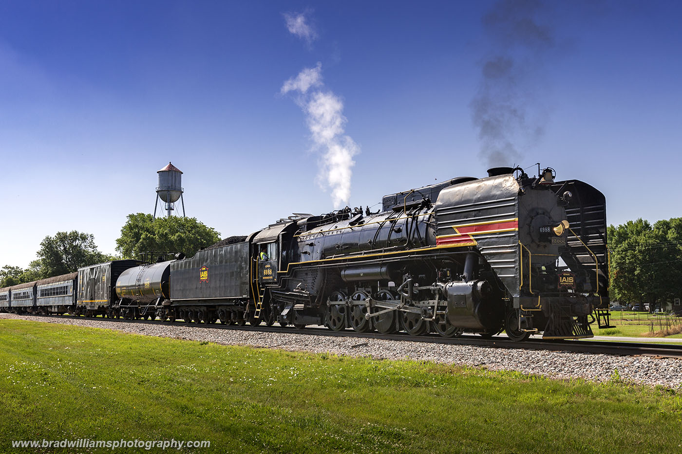 IAIS 6988 laying over in Menlo, Iowa after the first run of the day.  The layover was to allow for everyone to attend the Menlo...
