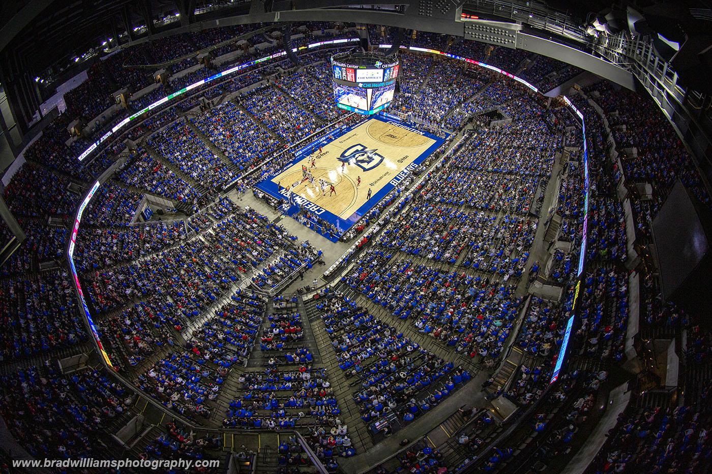 Creighton VS Nebraska 12/7/2019, Attendance = 18,068