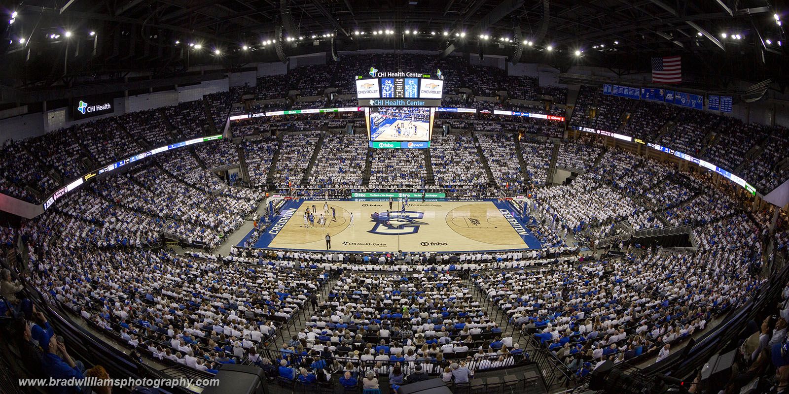 2020 Creighton VS Seton Hall 3/7/2020. Attendance = 18,519.  As of 3/7/2020 this was the 10th largest home crowd in Creighton...