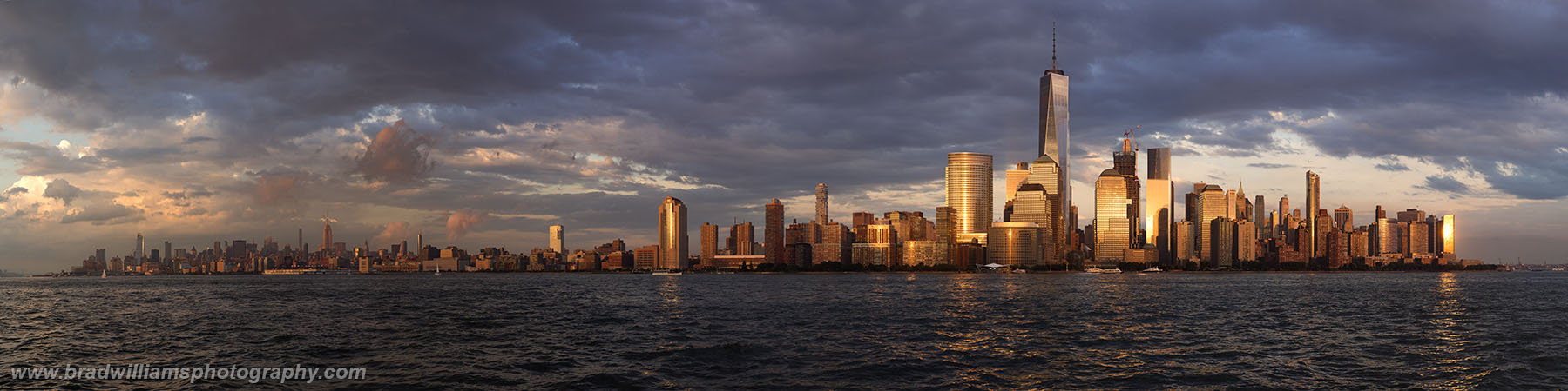 New York, New Jersey, Skyline, Sunset, Photo, photo