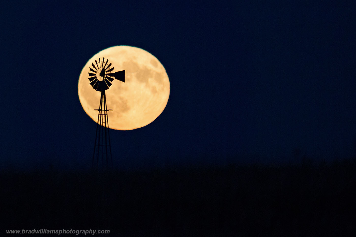 Nebraska, Moon, Windmill, photo